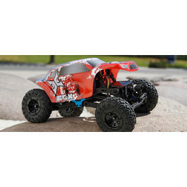 ECX 1:24 Mini Temper Rock Crawler 4WD 2,4 GHz 100% RTR Set rot / weiss ECX00012T1