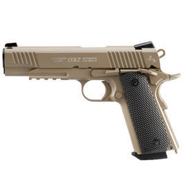 Colt M45 CQBP Vollmetall CO2 Pistole 4,5 mm (.177) BB FDE Blowback