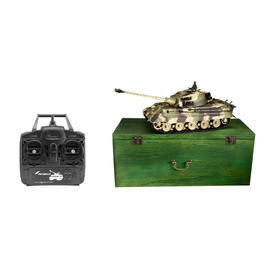 Panzermodell - Amewi RC Panzer Königstiger Henschel Turm 1:16 schussfähig RTR tarn