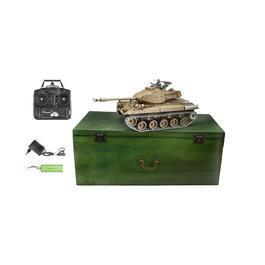 Panzermodell - Amewi RC Panzer Walker Bulldog M41 mit Metallketten 1:16 schussfähig RTR oliv