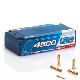 LRP LiPo Akku 7.4V 4500mAh 55C / 110C CCL Shorty P5 Hardcase 5mm 430236