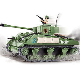 Cobi World Of Tanks Roll Out Small Army Bausatz Panzer M4 Sherman A1 / Firefly 450 Teile 3007