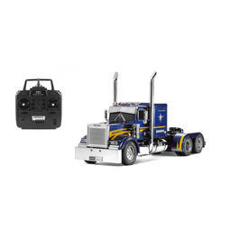 Tamiya 1:14 XB Grand Hauler Full Option Metallic Blue mit MFC-01 2,4 GHz RTR Set 23800