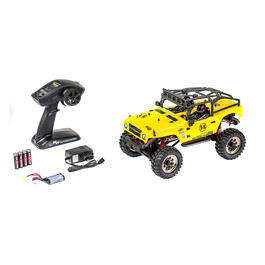 Carson 1:12 Mountain Warrior Sport 4WD Crawler 2,4 GHz 100% RTR Set gelb 500404069