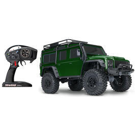 Traxxas 1:10 TRX-4 Land Rover Defender 4WD Scale Truck 2,4 GHz RTR Set Forest Green TRX82056-4G