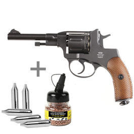 Freizeit Luftdruckwaffen - Gletcher CO2 Revolver NGT Kal. 4,5 mm BB inkl. CO2 Kapseln u. Stahl-BBs