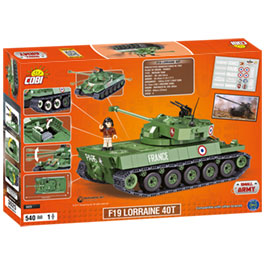 Cobi World Of Tanks Roll Out Small Army Bausatz Panzer F19 Lorraine 40T 540 Teile 3025