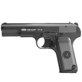 CO2 Pistolen - Gletcher CO2 Luftpistole TT Kal. 4,5mm Stahl BB Kunststoff schwarz