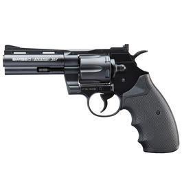 Freizeit Luftdruckwaffen - Swiss Arms CO2 Revolver 357 4 Zoll Kal. 4,5mm BB (.177) schwarz