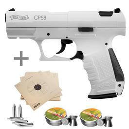 Walther Tactical - Walther CP99 Snowstar CO2 Luftpistole 4,5mm inkl. Munition u. Zielscheiben