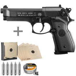 Umarex Waffen - Beretta M92 FS CO2 Luftpistole 4,5mm Diabolo brüniert inkl. Kugelfang, Diabolos und CO2 Kapseln