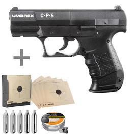 Walther Luftpistolen - Umarex CPS CO2 Luftpistole 4,5 mm (.177) Diabolo inkl. Kugelfang, Diabolos, CO2 Kapseln