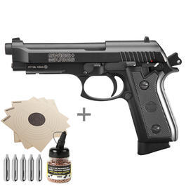 CO2 Pistolen - Luftpistolenset Swiss Arms P92 CO2 Luftpistole 4,5mm (.177) Stahl BB