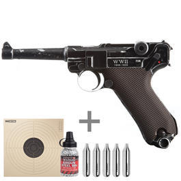 Legends P08 WWII Special Edition CO2 Luftpistole 4,5mm BB Komplettset