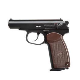Gaswaffen - Gletcher CO2 Luftpistole PM 1951 Kal. 4,5mm Stahl BB Blowback schwarz