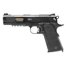CO2 Pistolen - Colt 1911 Custom Vollmetall CO2 Luftpistole4,5mm Stahl BB schwarz