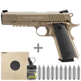 Colt M45 CQBP Vollmetall CO2 Pistole 4,5 mm (.177) BB Starterset