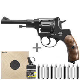 Gletcher CO2 Revolver NGT Kal. 4,5 mm BB schwarz Starterset