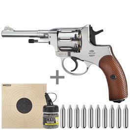 Gletcher CO2 Revolver NGT Kal. 4,5 mm BB nickel Starterset