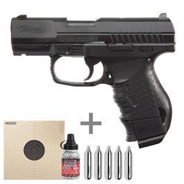 Walther Luftpistolen - Walther CP99 CompactCO2 Luftpistole 4,5mm (.177) BB inkl. CO2 Kapseln, Stahlrundkugeln u. Zielscheiben