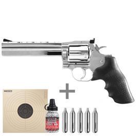 Freizeit Luftdruckwaffen - ASG Dan Wesson 715 CO2 Revolver 6 Zoll Kal. 4,5mm BB inkl. CO2 Kapseln, Stahlrundkugeln u. Zielscheiben