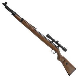 Luftdruckwaffen - Mauser K98 Karabiner Luftgewehr 4,5mm Diabolo Unterhebelspanner inkl. Zielfernrohr 4x32