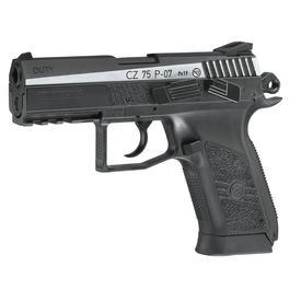ASG CZ 75 P-07 Duty m. Metallschlitten CO2 Luftpistole 4,5mm BB BlowBack Dual Tone