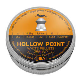 Coal Hollow Point White Pellets Diabolos 5,5 mm 250 Stück