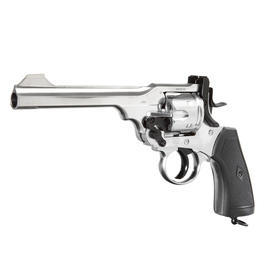 Webley MK VI CO2 Revolver Kal. 4,5mm BB, Chrom Exhibition Finish