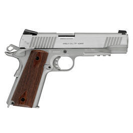 Swiss Arms P1911 CO2 Luftpistole Blow Back Kal. 4,5mm BB Tactical Rail silber Komplettset Deluxe