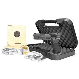 Walther CP88 4 Zoll CO2 Luftpistole 4,5mm Diabolo brüniert Komplettset Deluxe