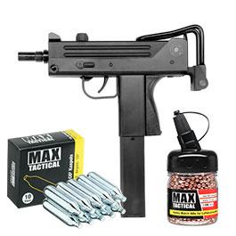 Set ASG Ingram M11 CO2 Luftpistole 4,5 mm BB inkl. 1500 Kugeln und CO2 Kapseln