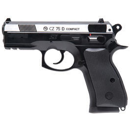 CO2 Pistolen - ASG CZ 75D Compact m. Metallschlitten 4,5mm BB CO2 Pistole Dual Tone
