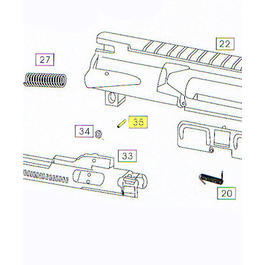 Wei-ETech M4 Part #035 Bolt Carrier Roller Pin