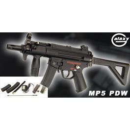 Softair ab 14 - Galaxy MP5 PDW AEG 6mm BB Komplettset