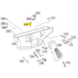 Wei-ETech SOCOM Part #098 Bolt Catch Part A