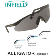 Infield Safety Brille Alligator Outdoor schwarz