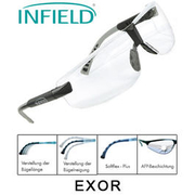 Infield Safety Brille Exor schwarz