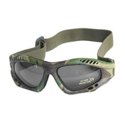 Mil-Tec Brille Commando Air-Pro smoke woodland