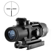 Aim-O 4x32 Tactical Compact Scope beleuchtet schwarz AO 3036-BK