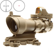 Aim-O TA01 Style Scope 4x32 QD-Mount mit Mini RedDot Visier tan 5316-DE