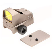Aim-O Sight-C Type Micro Red Dot mit Lichtsensor inkl. G-Pistolenhalterung tan AO 6005-DE