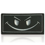 3D Rubber Patch Evil Smiley schwarz