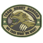 3D Rubber Patch Honney Badger multicam