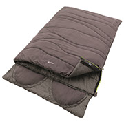 Outwell Doppel-Deckenschlafsack Contour Lux Double grau