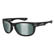 Wiley X Brille Hudson matt schwarz platinum flash green polarisiert