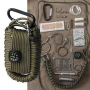Mil-Tec Paracord Survival Kit large oliv