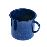 GSI Tasse Emaille 355 ml blau