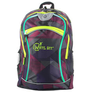 Wheel Bee LED-Rucksack 30 Liter lila mit LED-Beleuchtung