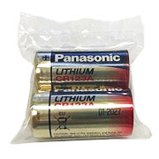 Panasonic Industrial Lithium CR123A 3V Power Batterie 2 Stück